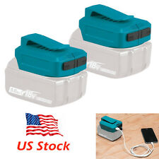 2 x ADP05 USB Charger Adapter for Makita BL1830 4.0 5.0 6.0 9.0 Li-ion Battery
