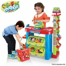 Supermarket Playset Food Stall Kids Role Play Kitchen Game Set Ideal For Gift
