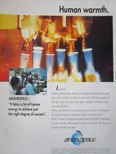 1992 PUB ARIANESPACE ARIANE SPACE ESPACE FUSEE SATELLITE ORIGINAL AD