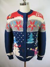 F4082 Women Woolrich Christmas Nordic Cardigan Sweater