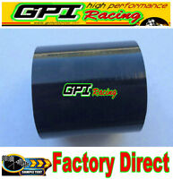 """4"""" Inch 102MM Straight Silicone Coupler Hose Turbo Intercooler Intake Pipe BLACK"""