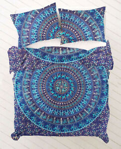 Indian Bohemian Duvet Doona Cover Cotton Double New Hippie Quilt Mandala Bedding