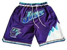 Utah Jazz Shorts Purple Xl Throwback Basketball for Men loose fit with Pockets