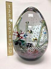 Designer BISAZZA VETRO MURANO Egg Shaped Aquarium Large Art Glass Sculpture