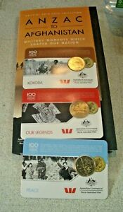 Anzac to Afghanistan Official 2016 incomp Album Coin Collection Sell 4 Charity