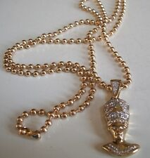 Men's Gold Finish Egyptian  Hip-Hop Pendant with  Chain