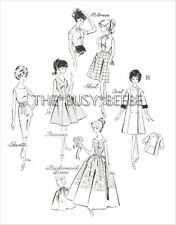 Evening Ensemble Pattern Set For Vintage Barbie (Pattern Set B)