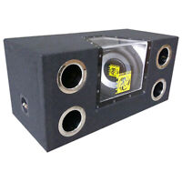 "NEW Audiotek Dual 12"" 2000 Watt Power Band Pass w/ Subwoofer Audio Car | Single"