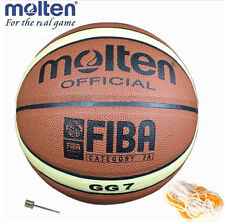 Molten GG7 PU Leather Basketball Quality Size 7 Free With Net Bag+Pins