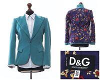 Women's DOLCE & GABBANA Blazer Coat Jacket Cotton Blue Size IT 40 US 6 UK 8