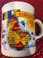 RARE VINTAGE BARBADOS ISLAND CERAMIC COFFEE CUP-MADE IN ENGLAND
