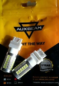 Auxbeam Turn/Brake/Stop Light, White LED Bulbs