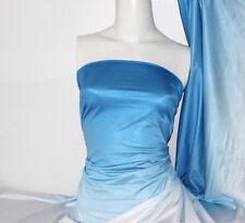 Blue Dip dye Poly/Nylon 4 way stretch shiny Fabric