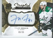 2016-17 UD The Cup TYLER SEGUIN #SM-TS Scripted Materials Patch Autograph 05/35