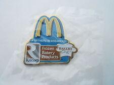 NOS Vintage McDonalds Advertising Enamel Pin #12 - RAILCORP BAKERY