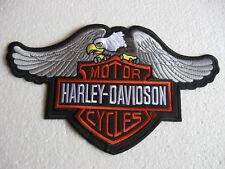 Grand dos écusson patch HARLEY-DAVIDSON MOTORCYCLES Biker-MC moto sport