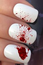 HALLOWEEN WATER NAIL TRANSFERS BLOOD STAB ATTACK SPLATTER DECALS STICKERS *663