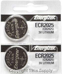2 pcs 2025 Energizer Watch Batteries CR2025 CR 2025 3V Lithium Battery 0%HG