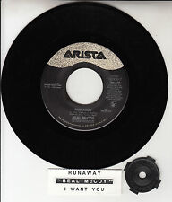 "REAL McCOY  Run Away 7"" 45 rpm vinyl record + juke box title strip RARE!"