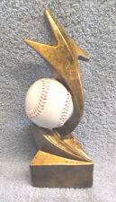 Baseball trophy full color resin ball Pdu92103Gs gold star