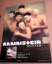 Rammstein 2001 Original Mutter 2-sided Promo Poster