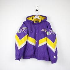 Vintage 90s NBA STARTER Utah JAZZ Padded Quilted Hooded Jacket | Medium