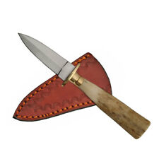 "NEW IN BOX Stag Mini Athame 5.25"" Boot Dagger Steel Knife w/ Antler Handle"