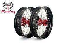"""Honda CRF250R 2004-2013 CRF450R 2002-2012 CNC Supermoto Wheels set 17"""""""