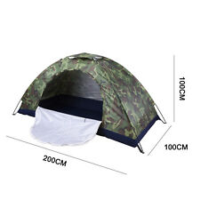 Waterproof 1/2 People One Layer Family Tent Camping Hiking Tent Camouflage / Red