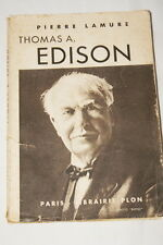 THOMAS A. EDISON-LAMURE 1938 SCIENCE ELECTRICITE