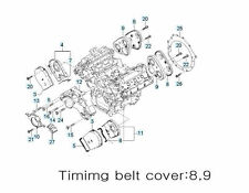Timing belt parts Item No-  Choose part and Write Quantity