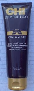 CHI Deep Brilliance Olive & Monoi Deep Protein Masque Strengthening 237ml/8oz