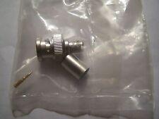 Unlabeled 75 ohm RG6 BNC crimp plug #8
