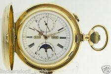 Le Phare SAVONETTE Cronografo quarti repetition Luna fase ca. 130 grammi
