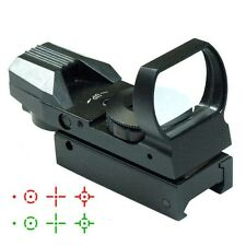 Tactical Hologram Reflex 4 Reticule Red/green Dot Sight Scope Laser Mount Gun!