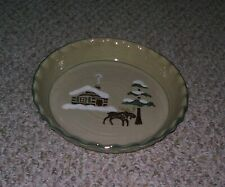 Sonoma Home Goods Lodge Fluted Moose Pie Quiche Plate