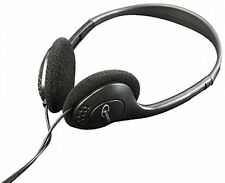Black Headphones, Over-Head With Volume Control, Premium Value , 3.5mm Jack For