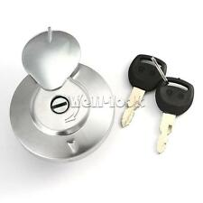 Chrome Fuel Tank Cap Filler Lock Switch For Honda Shadow VLX VT750 STEED 400 600
