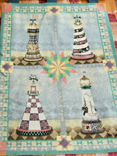 Vintage Jim Shore Wall Hanging Lighthouses Manualwoodworkers & Weavers 26x36 Usa