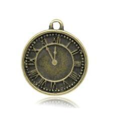 30PCS Tibetan silver Clock Charms FC13769