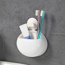 Plastic Suction Cup Bathroom Kitchen Wall Storage Bin Case Rack Organizer Shelf