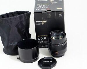 Panasonic Lumix G 42.5mm f/1.2 DG Nocticron Power OIS ASPH Leica Lens MFT Om-D
