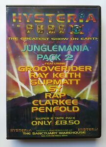 HYSTERIA & PURE X - THE GREATEST SHOW ON EARTH (JUNGLE MANIA CD PACK 2) 15/10/94