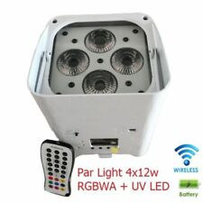 Par Light 4x12w DMX RGBWA+UV 6in1 Portable LED Battery Wireless iOS Android APPs