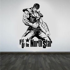 Fist OF THE NORTH STAR HOKUTO NO KEN COOL MANGA Muro ARTE Adesivo / Decalcomania