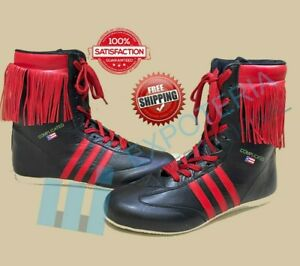 Top Quality Kick Boxing Shoes Made of  Mesh Leather Unisex