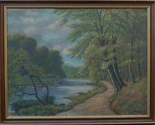 Sconosciuto Impressionista - Autunnale Uferlandschaft -ölgemälde circa 1900