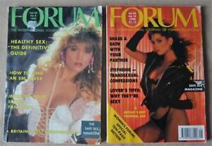 "2 x VINTAGE ""FORUM"" MEN'S MAGAZINE 1989 & 1990"