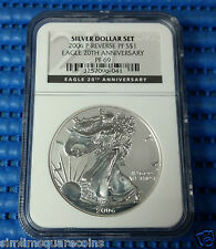 2006-P Reverse Proof Silver Eagle 20th Anniversary PF-69 NGC (Black Label) Coin