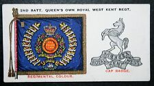 Royal West Kent Regiment  Battalion Colour  1930 Vintage Card